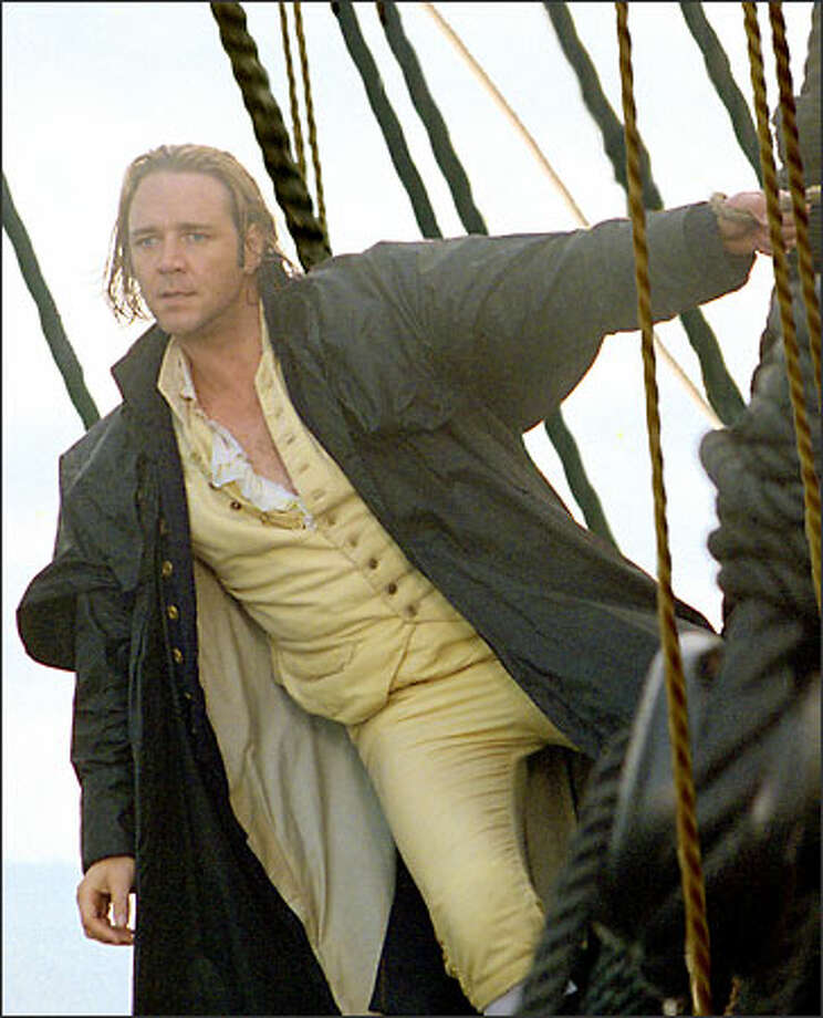 "Russell Crowe stars in Master and Commander, as Capt. ""Lucky"" Jack Aubrey, one of the British Navy's greatest fighting captains. Photo: Universal Studios"