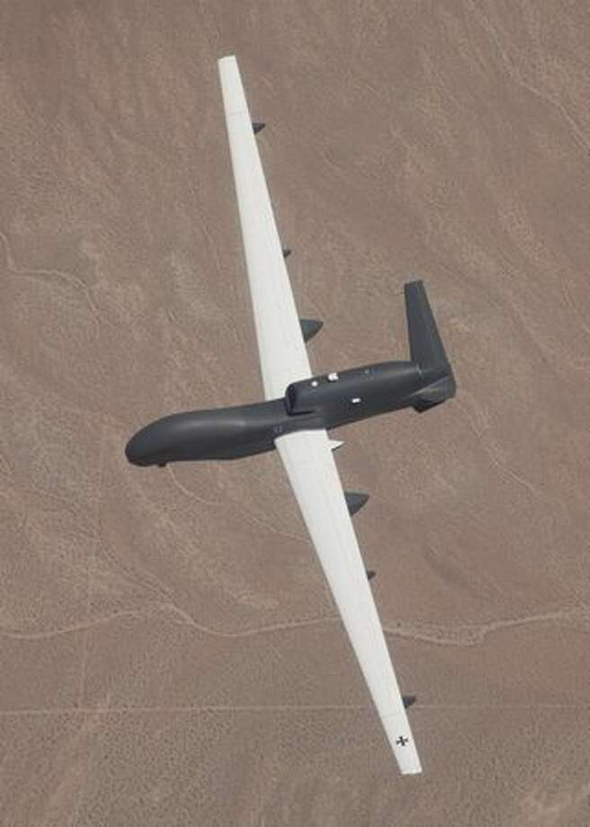 The Euro Hawk unmanned reconnaissance aircraft on its maiden flight from Northrop Grumman's Palmdale, Calif., manufacturing plant. (Northrop Grumman)