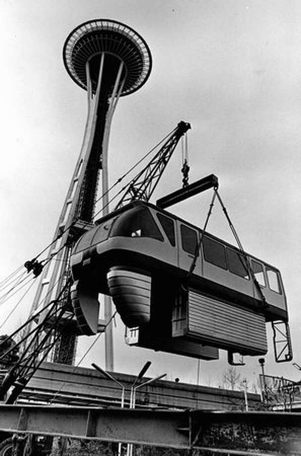Work on a Monorail car, April 1973. Photo: P-I File