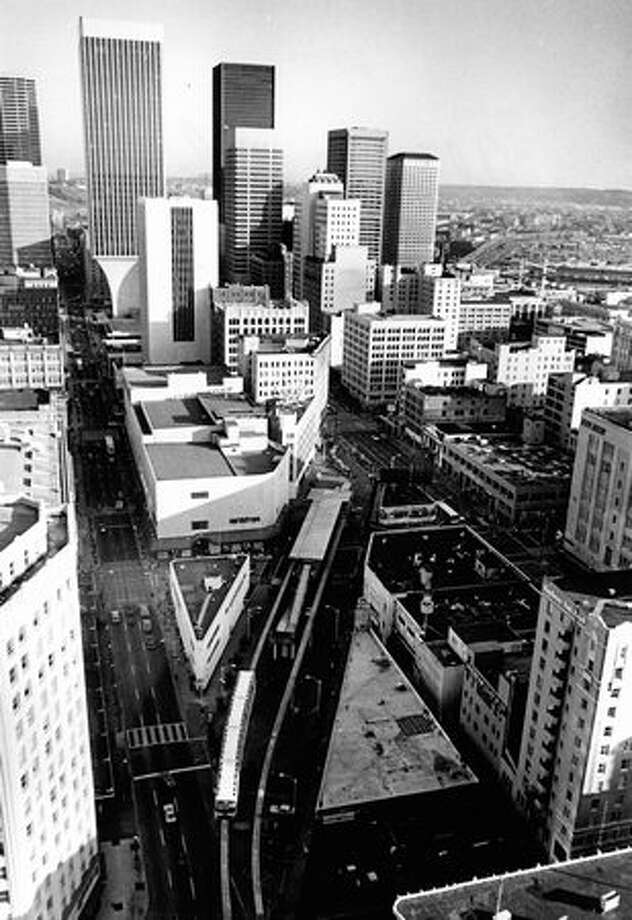 An aerial photo of the Westlake area, June 27, 1982. Photo: P-I File