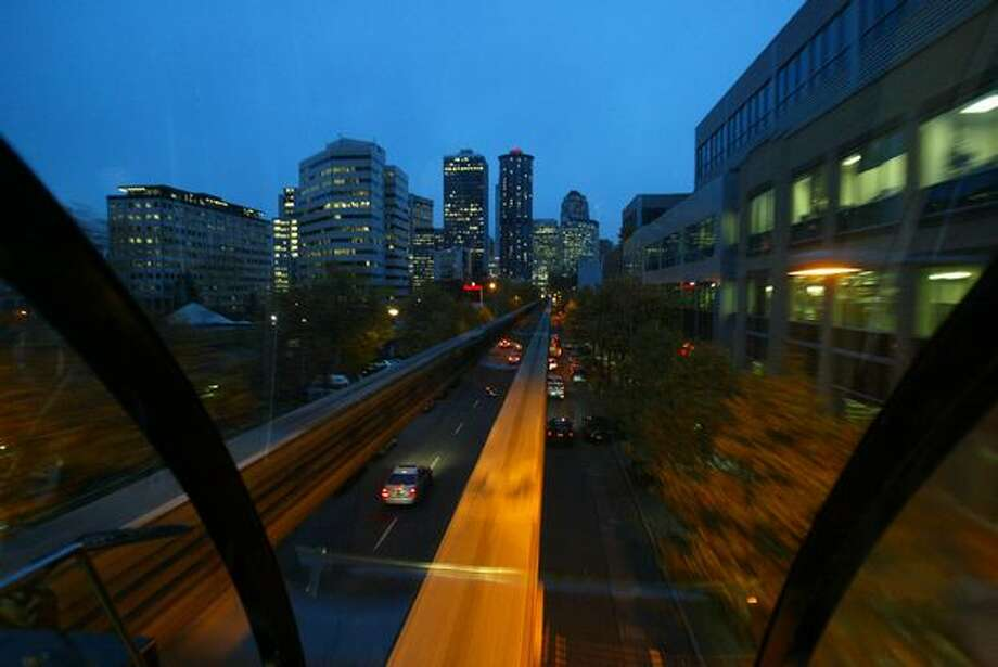 The Seattle Monorail, November 2006. Photo: P-I File