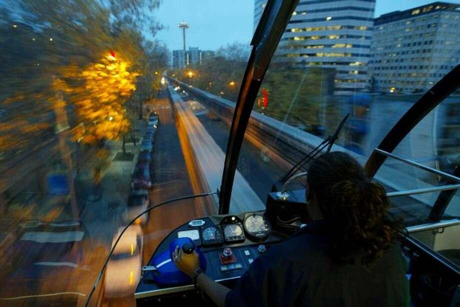 The Seattle Monorail, November 2006. Photo: P-I File