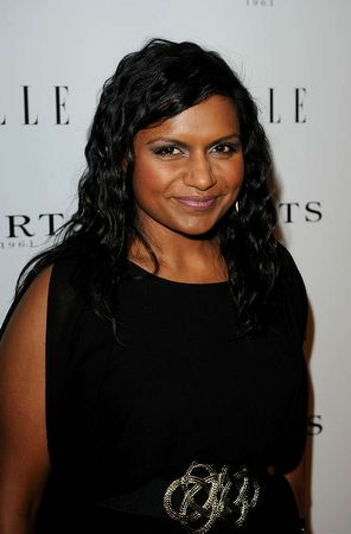 Actress Mindy Kaling arrives at ELLE Women In Television event at Soho House in West Hollywood, California.