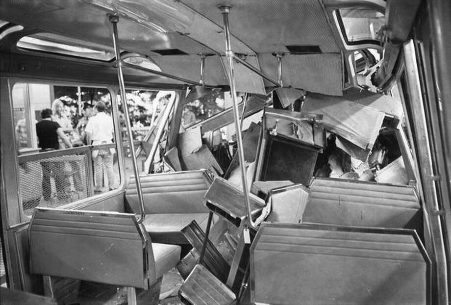 Seats were uprooted during a July 25, 1971 crash. Photo: P-I File