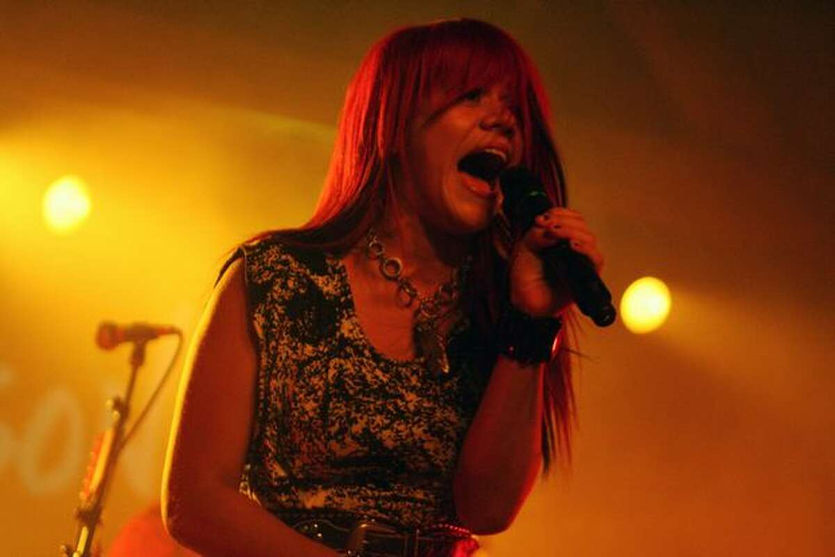 Singer Allison Irahtea opens for Adam Lambert at the Showbox SoDo in Seattle. She was a contestant on