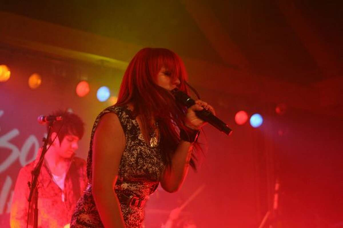 Singer Allison Irahtea opens for Adam Lambert at the Showbox SoDo in Seattle. She was a contestant on FOX's