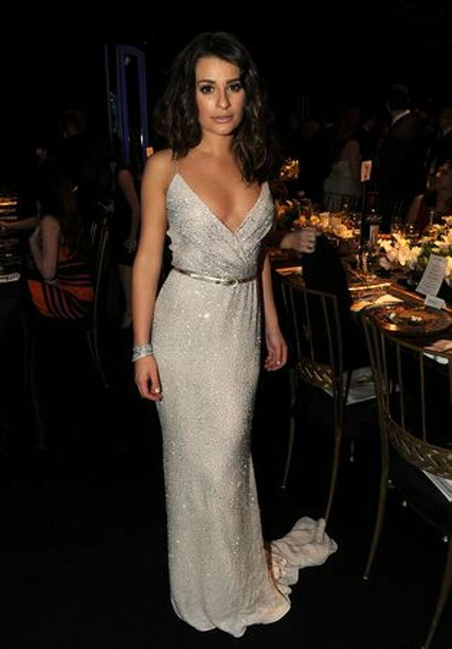 Actress Lea Michele attends the cocktail reception. Photo: Getty Images