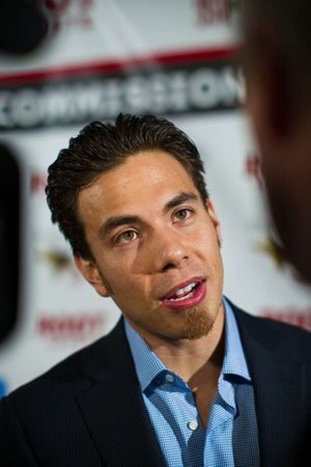 Team U.S.A. short-track speed skater Apolo Ohno, nominated for 2010 male sports star of the year, arrives at the 76th Annual Sports Star of the Year, presented by ROOT SPORTS, at Benaroya Hall in Seattle Wednesday, Jan. 26, 2011. The evening honors Northwest sports stars, carrying on an annual tradition started by Seattle Post-Intelligencer sports editor Royal Brougham in 1936. Photo: Dan DeLong, RedBox Pictures