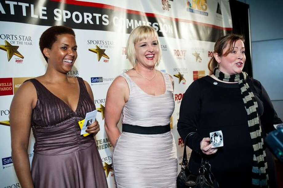 Athletes from the Rat City Rollergirls roller derby league arrive at the 76th Annual Sports Star of the Year, presented by ROOT SPORTS, at Benaroya Hall in Seattle Wednesday, Jan. 26, 2011. The evening honors Northwest sports stars, carrying on an annual tradition started by Seattle Post-Intelligencer sports editor Royal Brougham in 1936. Photo: Dan DeLong, RedBox Pictures