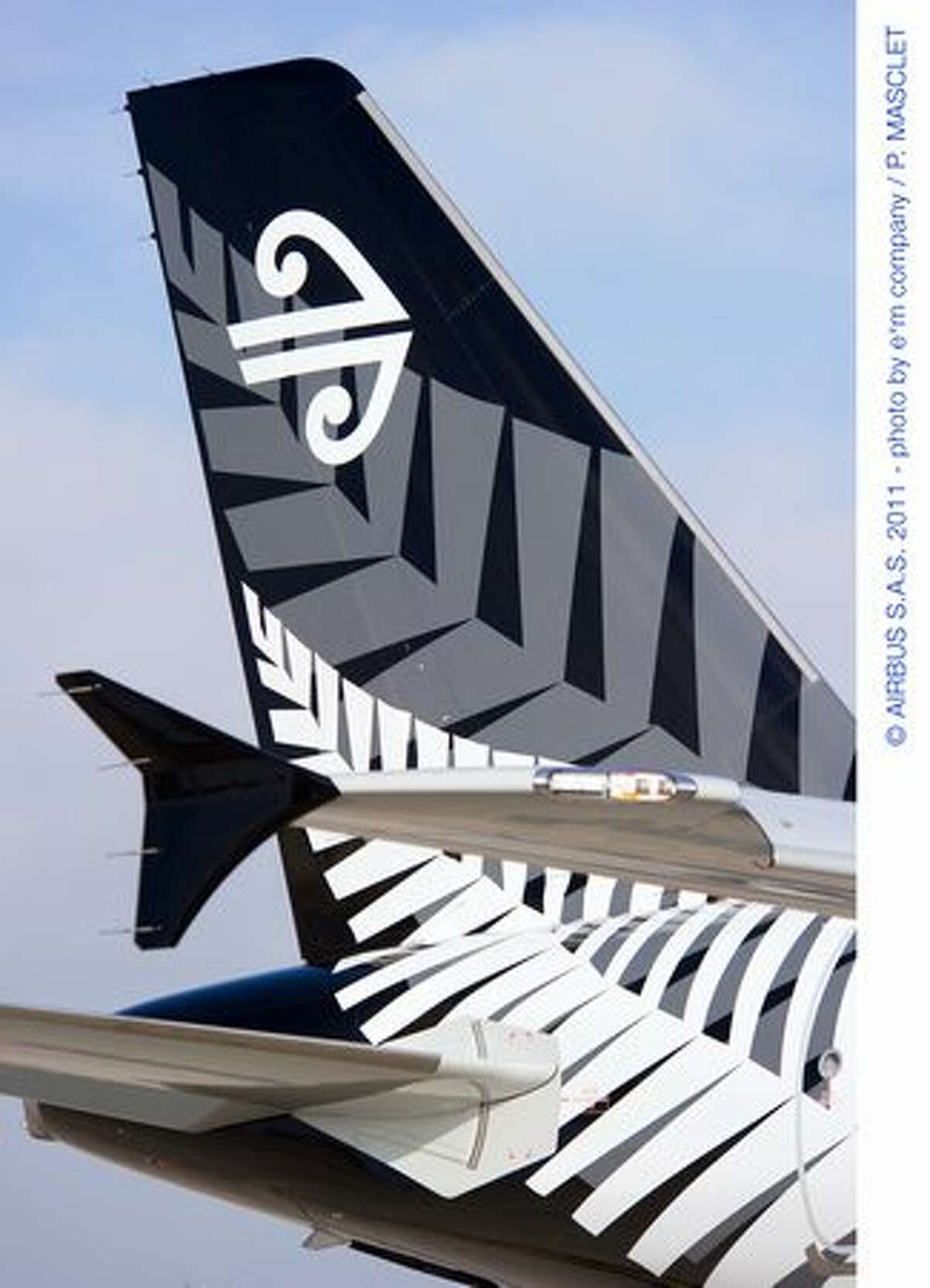 Air Lease Corp. takes delivery of the first of 51 ordered Airbus A320s, an Air New Zealand airliner in the colors of New Zealand's All Blacks rugby team.
