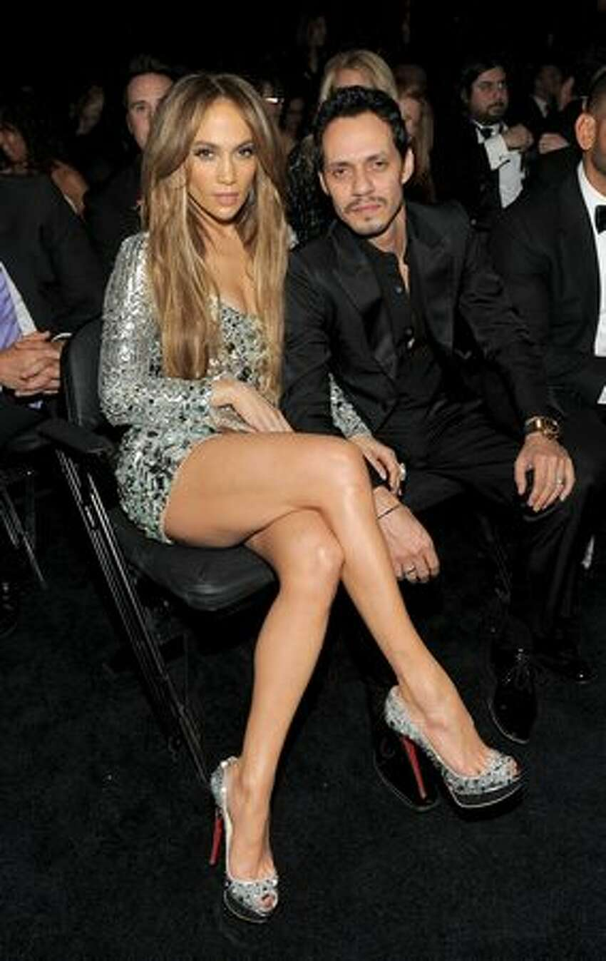 Actress Jennifer Lopez and singer Marc Anthony attend The 53rd Annual GRAMMY Awards held at Staples Center in Los Angeles, California.