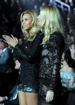 Singer Beyonce and actress Gwyneth Paltrow attend The 53rd Annual GRAMMY Awards held at Staples Center on February 13, 2011 in Los Angeles, California. Photo: Getty Images