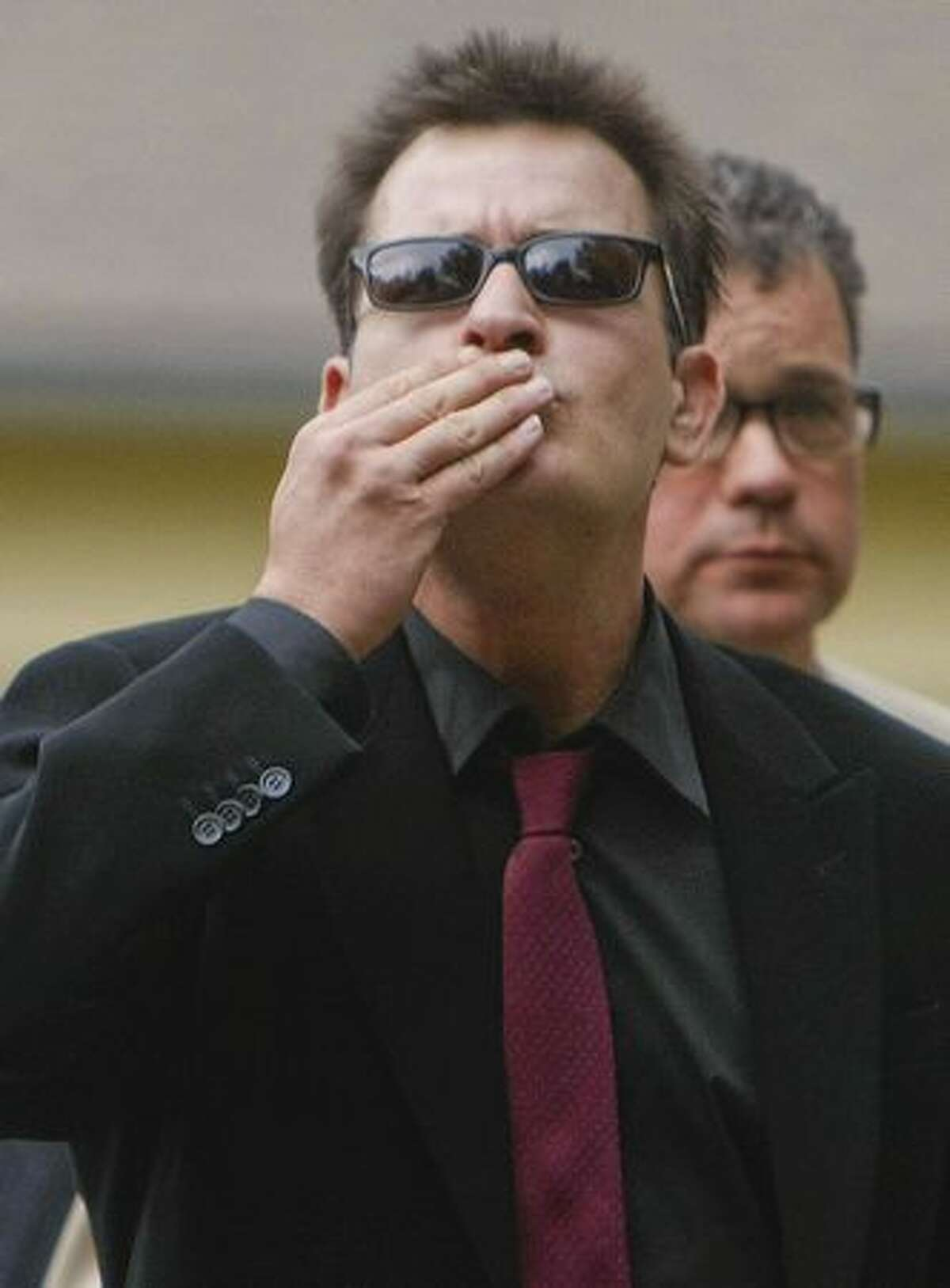 Charlie Sheen arrives at the Pitkin County Courthouse on August 2, 2010 in Aspen, Colorado.