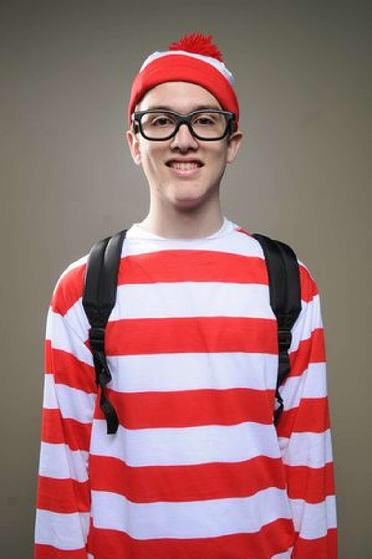 Bradley Berg, from Redmond, poses as Waldo.
