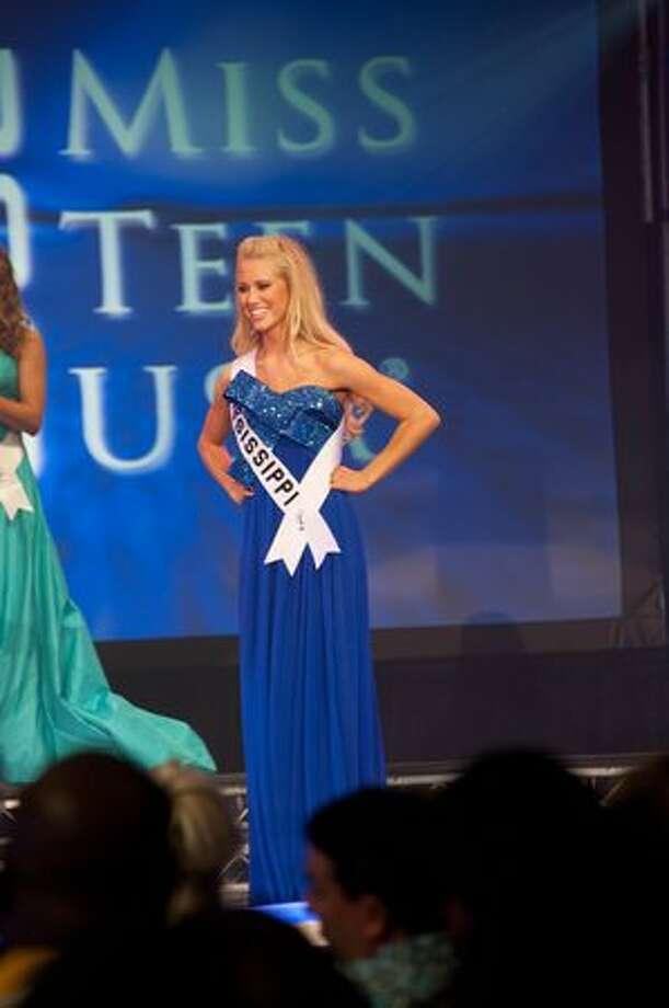 Haley Sowers, Miss Mississippi Teen USA 2010, is chosen as one of the top 5 finalists Saturday during the Miss Teen USA 2010 Finals Show at ATLANTIS, Paradise Island, Nassau, Bahamas. Photo: Miss Universe L.P., LLLP