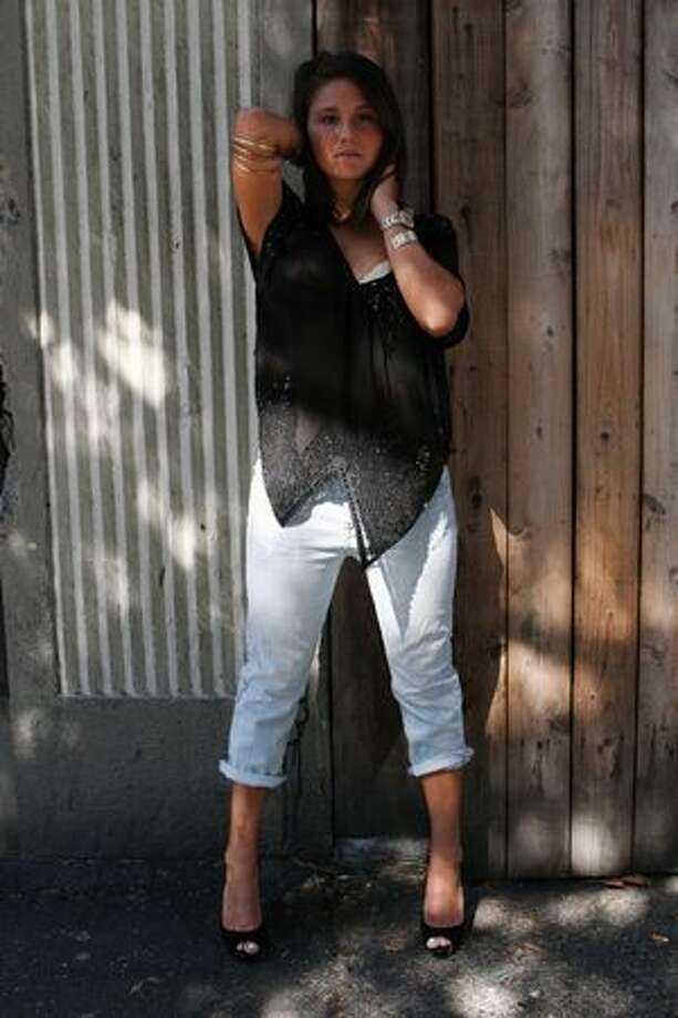 Alexus Shefts, in-house model for Strut Boutique, sporting a more Tomboyish look. Photo: William Baldon, Seattlepi.com