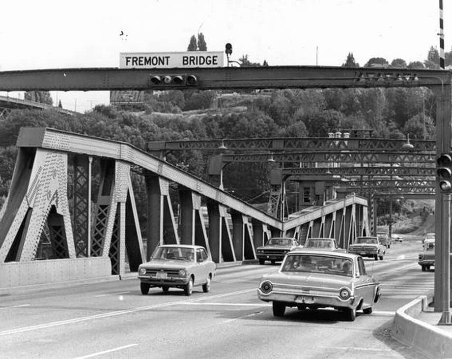 The Fremont Bridge, Aug. 20, 1972. Photo: P-I File