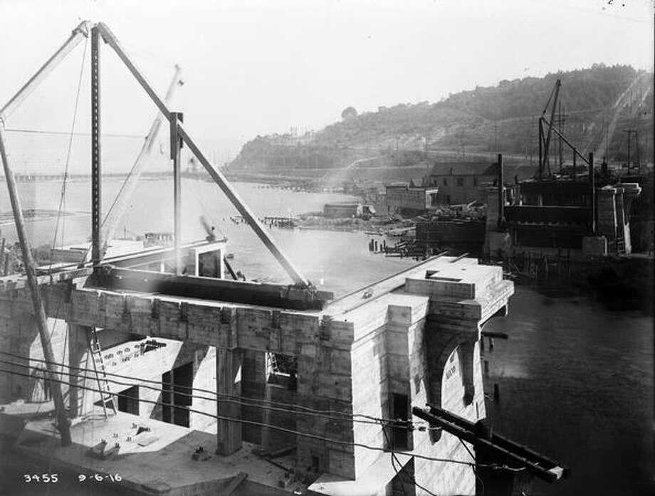 The Fremont Bridge, September 1916. (Seattle Municipal Archives/1133) Photo: P-I File