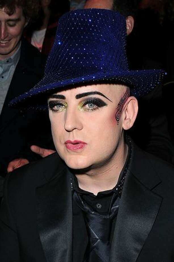 Boy George attends the Vivienne Westwood Ready to Wear Autumn/Winter 2011/2012 show during Paris Fashion Week at Pavillon Concorde in Paris, France. Photo: Getty Images