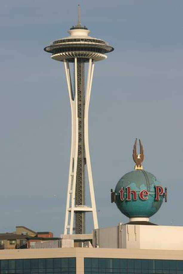 The P-I and Space Needle seen on Oct. 9, 2006. (Joshua Trujillo/Seattlepi.com file) Photo: P-I File