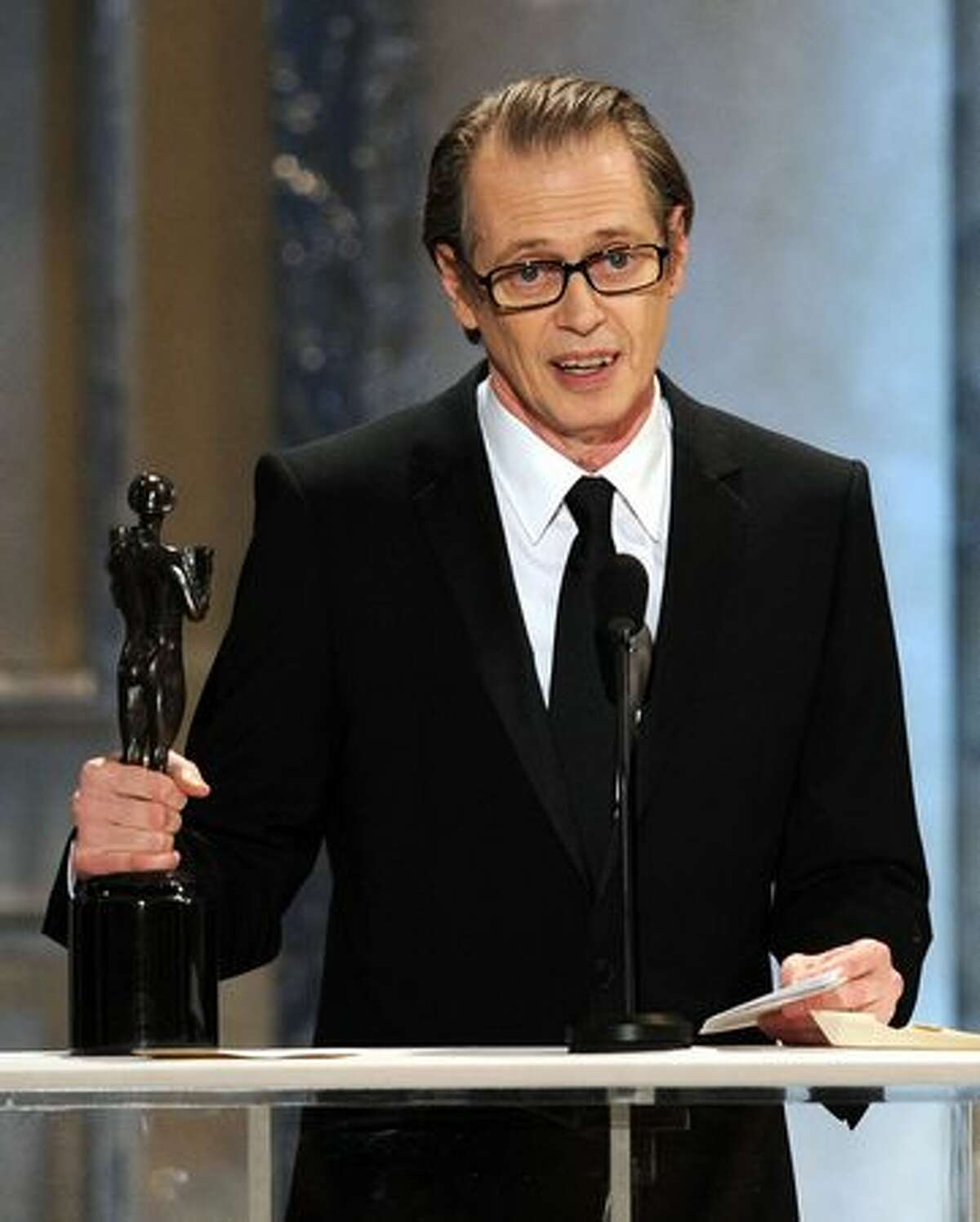 Actor Steve Buscemi, winner of Outstanding Performance by a Male Actor in a Drama Series award for