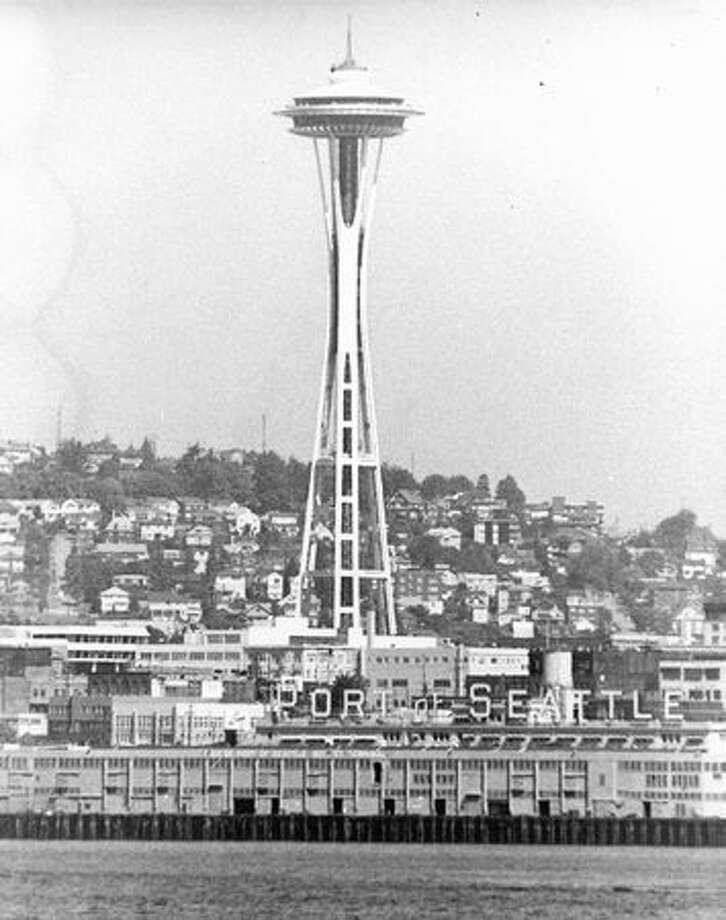 The Space Needle, August 1972. Photo: P-I File