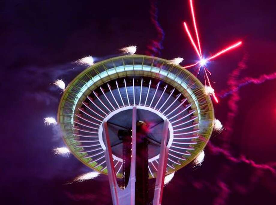 The Space Needle lights up on Jan. 1, 2009 (Joshua Trujillo/Seattlepi.com file) Photo: P-I File