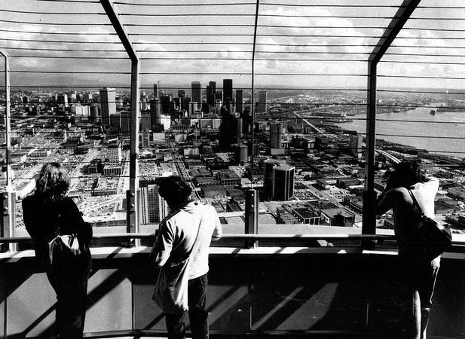 The Space Needle observation platform, April 19, 1980. Photo: P-I File