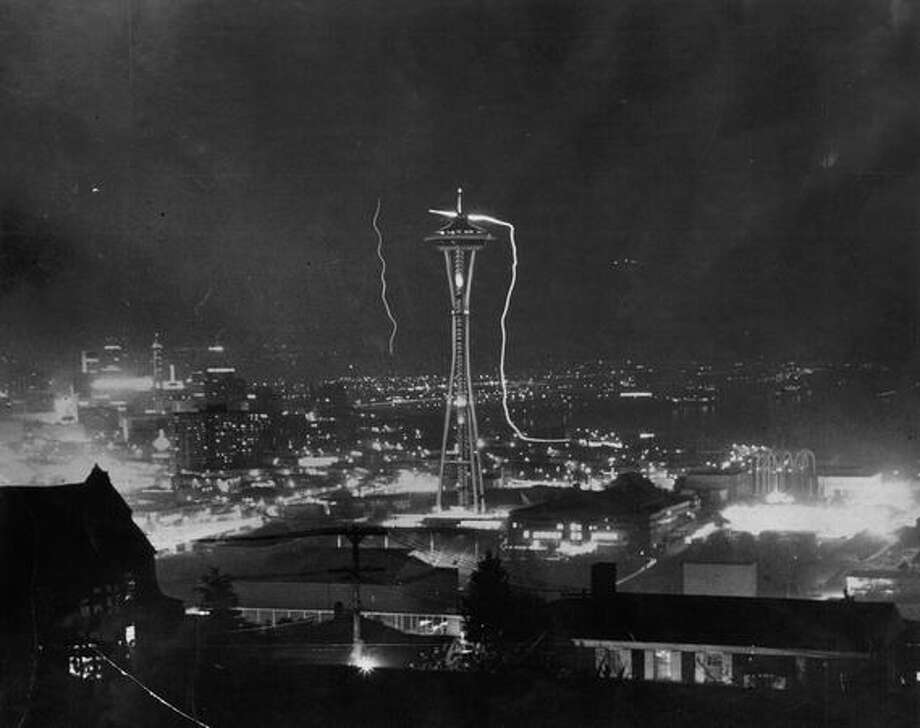 The Space Needle, May 1962. Photo: P-I File