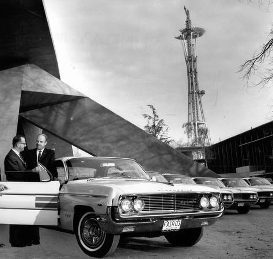 The Space Needle being built, 1961. Photo: P-I File