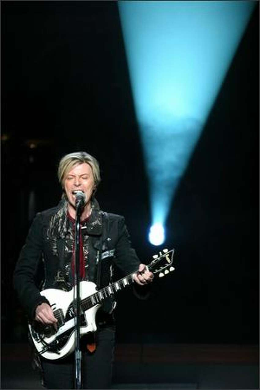 David Bowie entertains the crowd with his well-known sound at the Paramount.