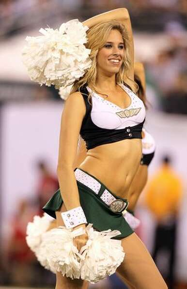 A cheerleader for the New York Jets.