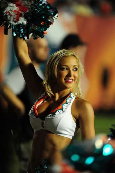 A member of the Miami Dolphins cheerleaders.