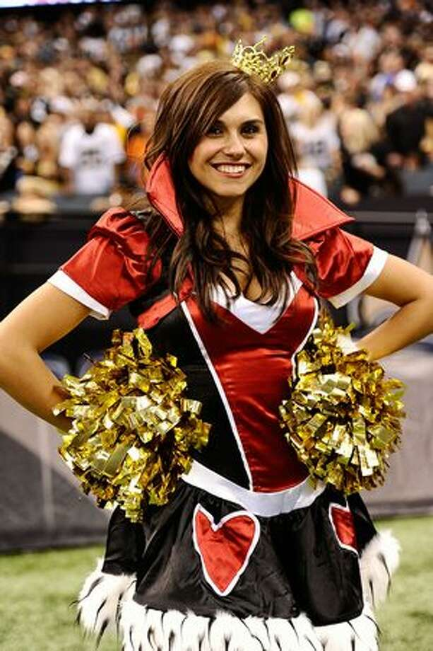 A New Orleans Saints cheerleader on Halloween. Photo: Getty Images