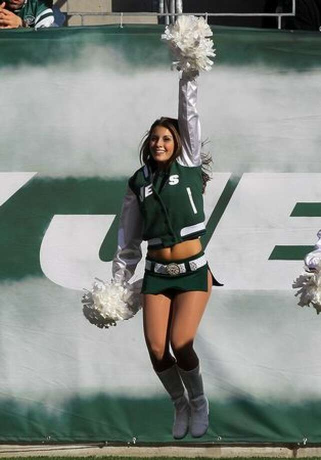 A cheerleader of the New York Jets. Photo: Getty Images