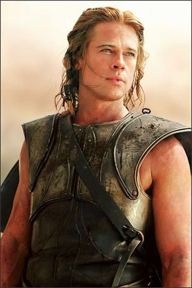 "Brad Pitt stars as 'Achilles' in Warner Bros. Pictures' epic action adventure ""Troy,"" also starring Eric Bana and Orlando Bloom. Photo: Warner Brothers"