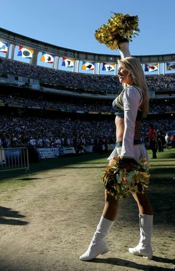 A Charger Girl performs during a San Diego Chargers game. Photo: Getty Images