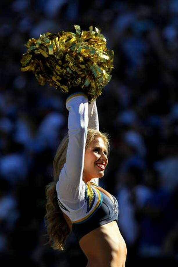 A Charger Girl performs. Photo: Getty Images