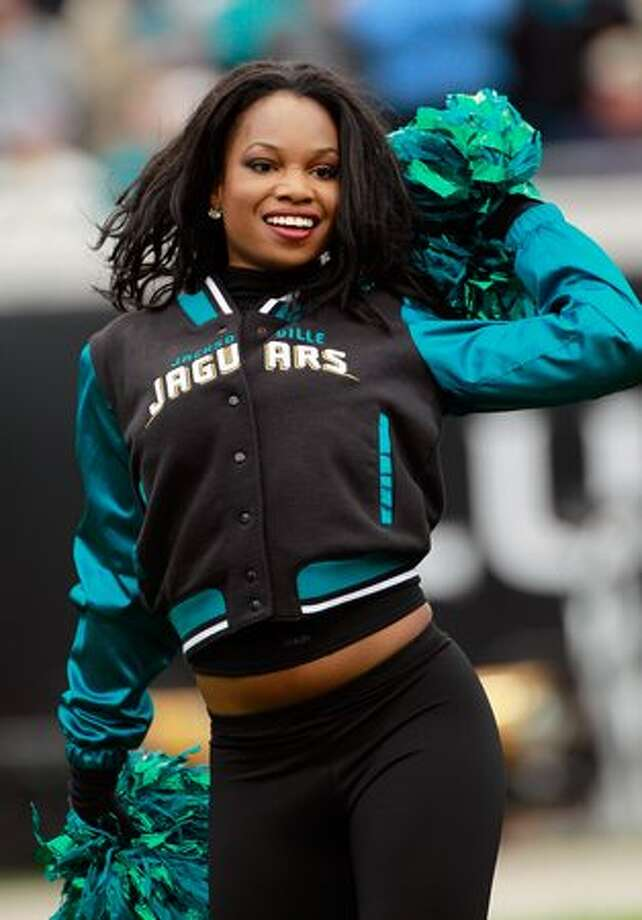 A Jacksonville Jaguars cheerleader. Photo: Getty Images