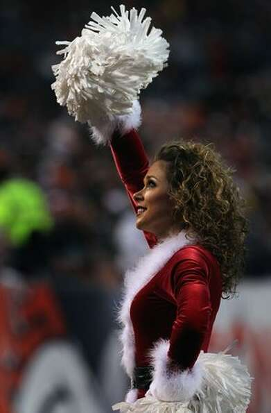 A member of the Denver Broncos cheerleaders.