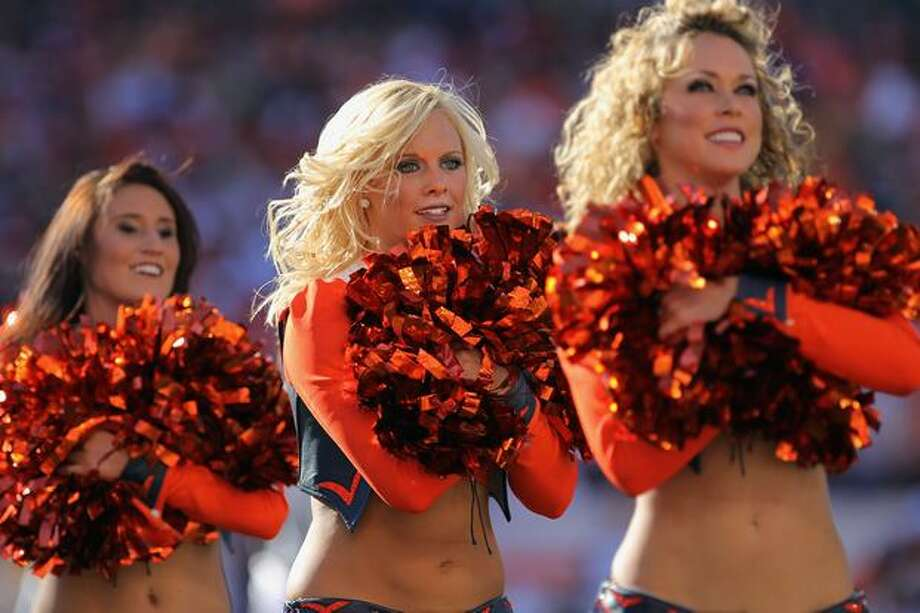 Members of the Denver Broncos cheerleaders. Photo: Getty Images