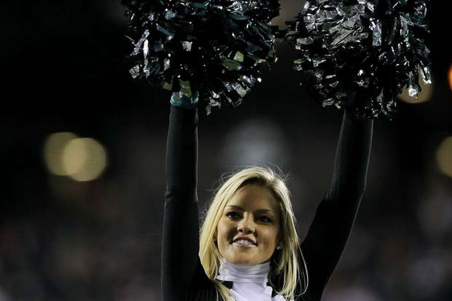A cheerleader of the Philadelphia Eagles. Photo: Getty Images