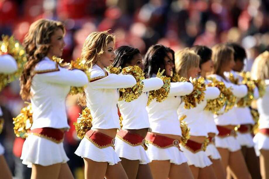 The San Francisco 49ers Gold Rush cheerleaders. Photo: Getty Images
