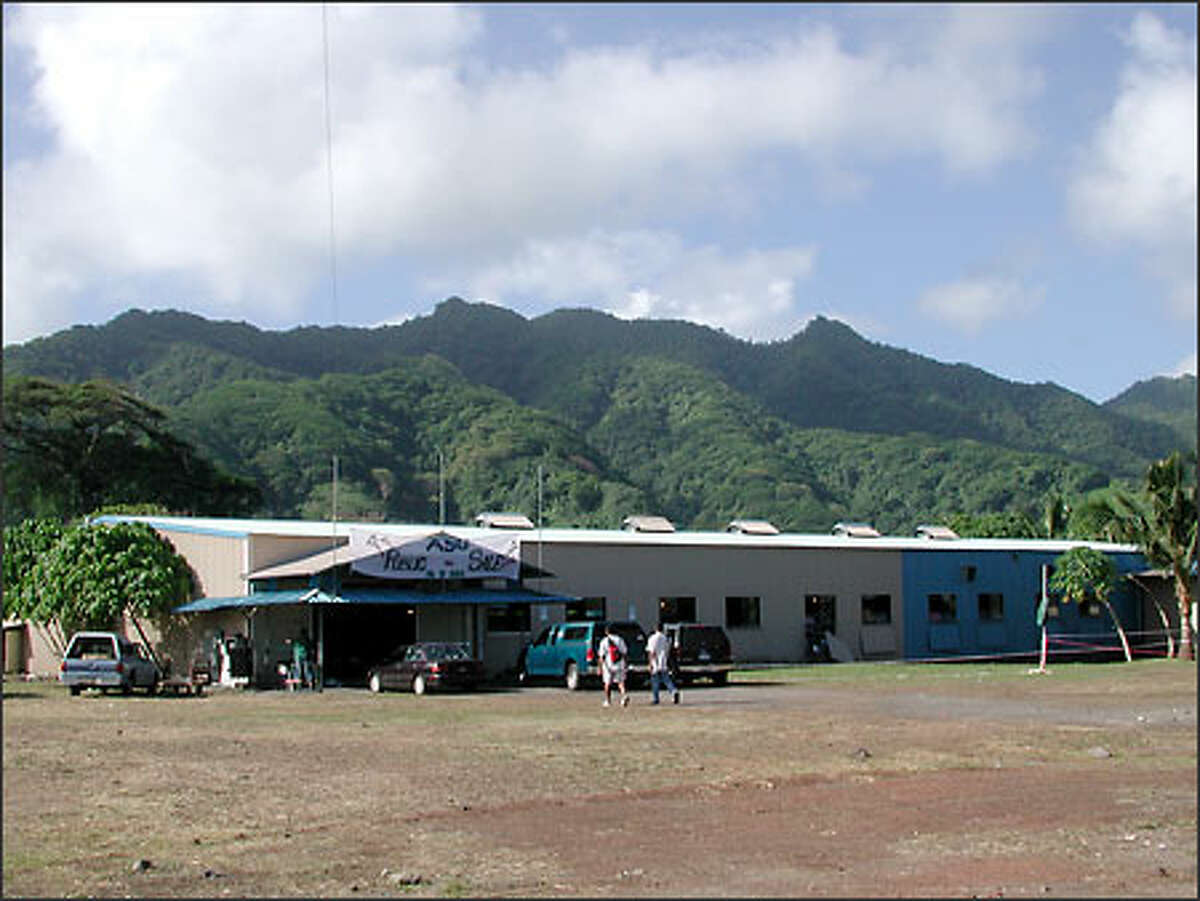 The Daewoosa Samoa Ltd. factory. For 10 days, Hai-Tri Le bunked in the men's dormitory to experience factory life, and he documented the squalid conditions with a notepad and digital camera. (Samoa News)