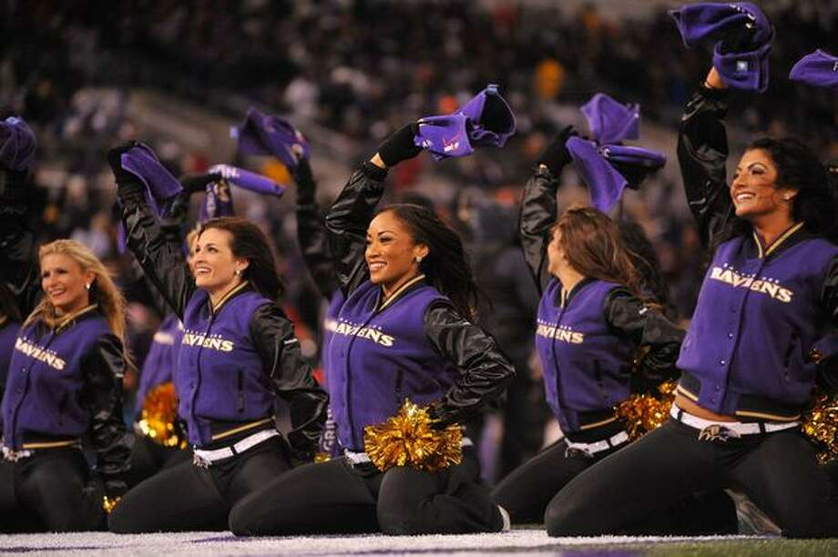 The Baltimore Ravens cheerleaders. Photo: Getty Images