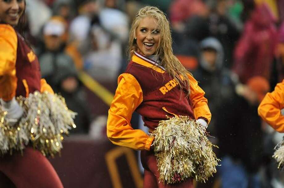 A cheerleader for the Washington Redskins. Photo: Getty Images