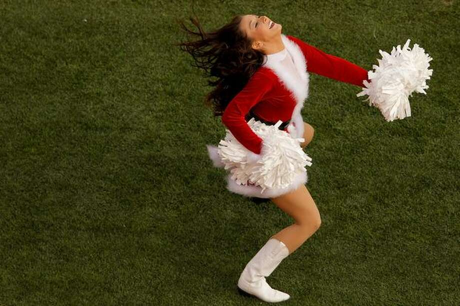 A Denver Broncos cheerleader. Photo: Getty Images