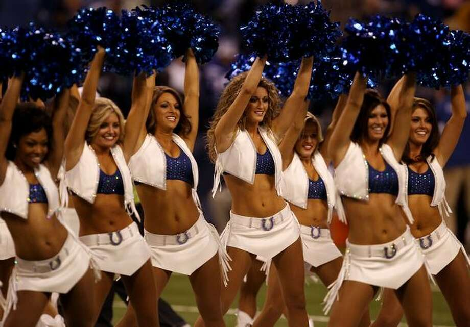 Cheerleaders for the Indianapolis Colts. Photo: Getty Images