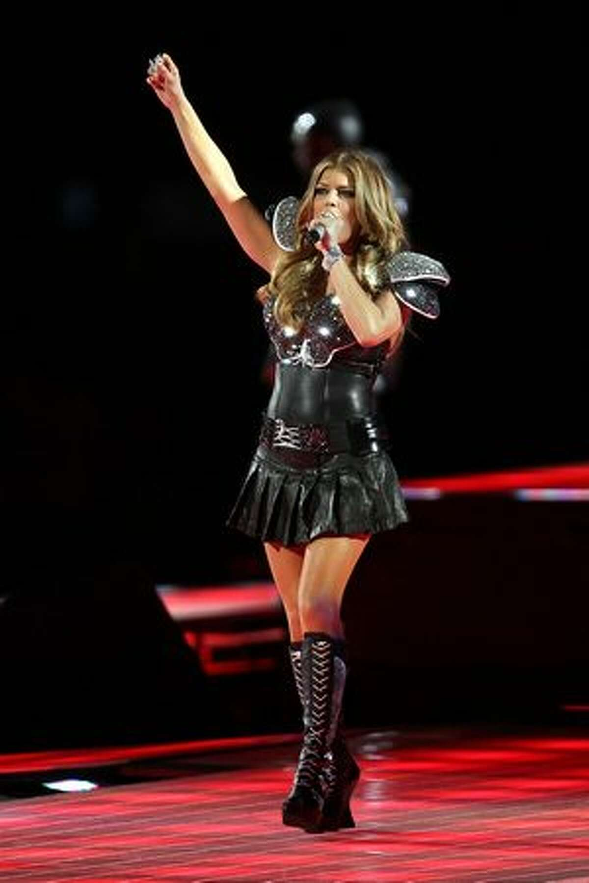 Fergie of the Black Eyed Peas performs.