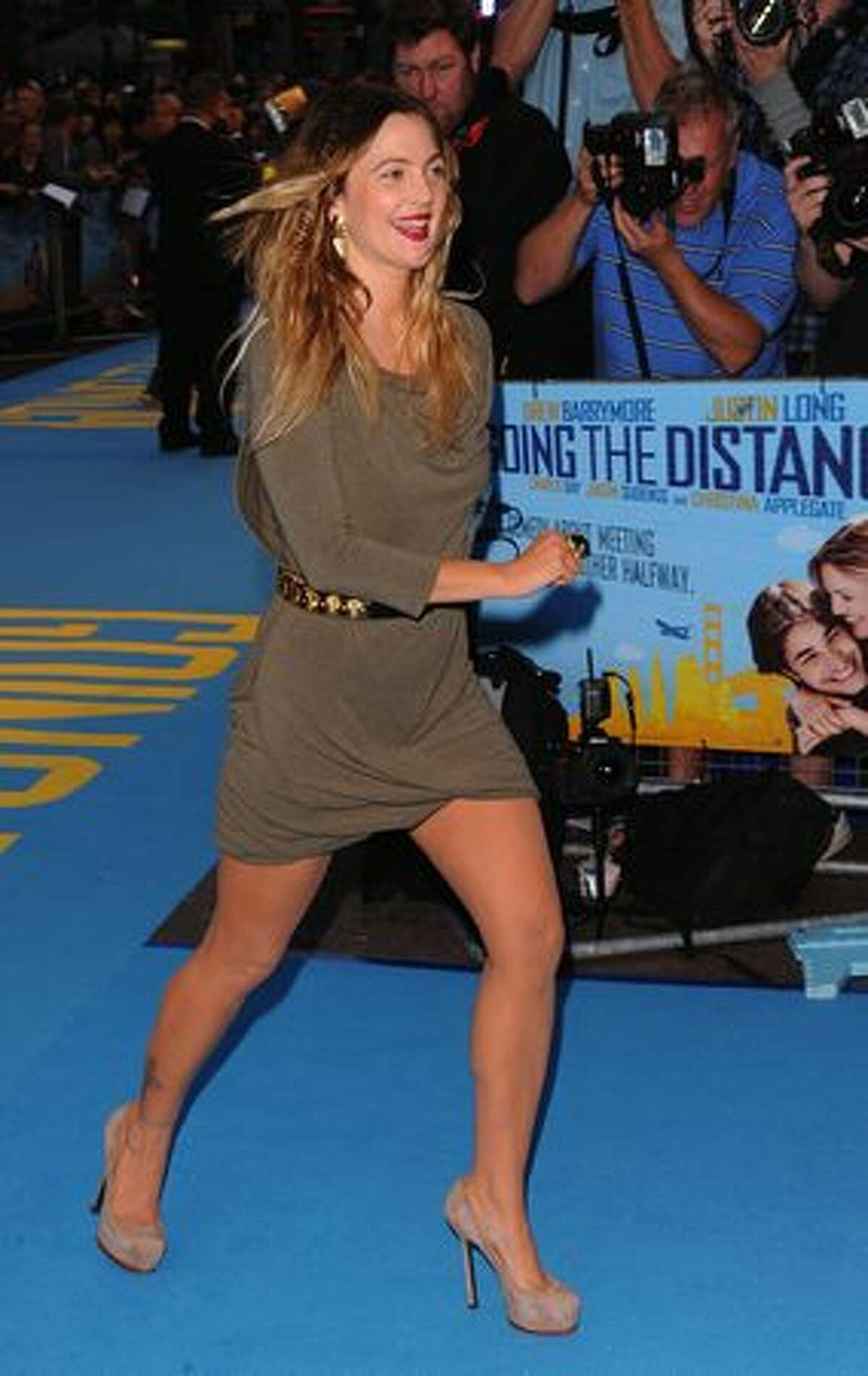 Actress Drew Barrymore attends the world premiere of 'Going The Distance' at the Vue, Leicester Square, in London, England.